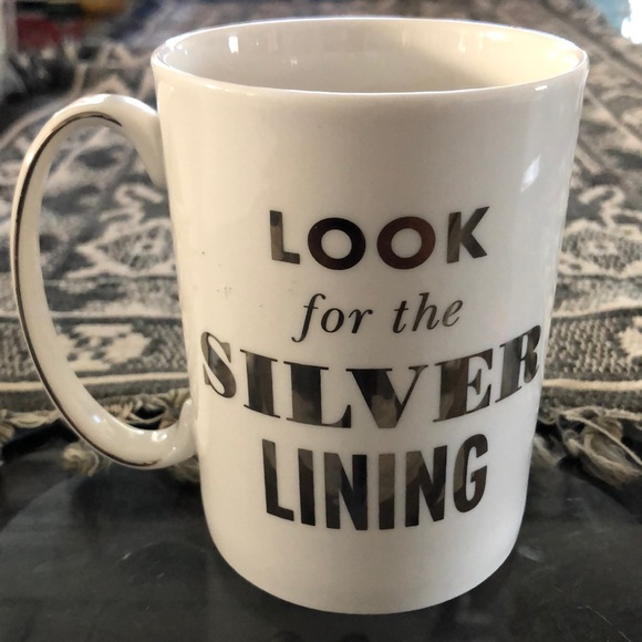 "Kate Spade♠️ ""Look for the Silver Lining"" Mug"